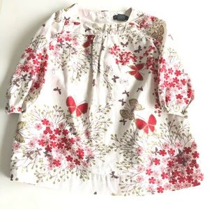 Baby Gap 12-18M Pink Red Butterfly Corduroy Dress
